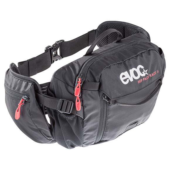 EVOC Hüfttasche HIP PACK Race 3L + 1,5L Bladder-red - neon blue-image